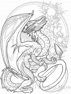 105 Best Dragon Illustrations Images In 2019 Coloring Books