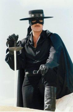 """I used to enjoyed watching ZORRO as a kid. Tarzan, Zorro Costume, The Legend Of Zorro, Long Pictures, Western Comics, Tv Westerns, The Lone Ranger, Masked Man, Tough Guy"