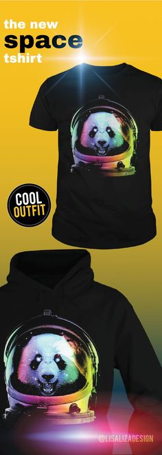 "Astronaut Panda T Shirt / Hoodies .  Show your ""space"" on your body with amazing space T-shirts from     our collection .   Great gift ideas for teen boys, kids and men .   Cool space men Tee designs for everyday casual wear. #space #spaceship #astronaut #galaxy #spacegraphictee #spacetravel #graphictee #men #kid #spacepug #pug #nasa #cool #humor #funny #Boys #plussize #sunfrog #giftideas #Alien #planet #solar #gift #Lisaliza #Sunfrog"