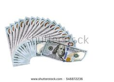 US Dollars Banknotes, money concept isolated image