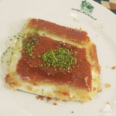 Nothing like Knefe to start the day with By Lebanese Desserts, Start The Day, Unique Recipes, Palestine, Lebanon, Food Dishes, Pastries, Deserts, Middle