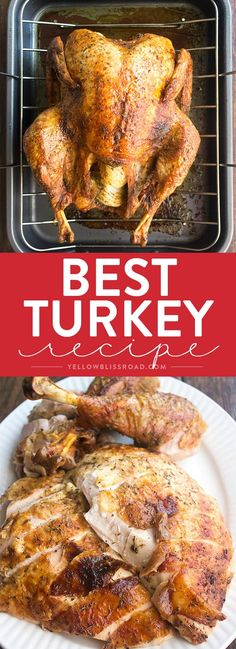 Learn how to cook a turkey with our foolproof Thanksgiving Turkey recipe - it's flavor packed, tender and juicy with that crispy skin that everyone loves! Best Thanksgiving Turkey Recipe, Thanksgiving Menu, Christmas Turkey, Friends Thanksgiving, Christmas Eve, Recetas Salvadorenas, Cooking Recipes, Healthy Recipes, Grilled Recipes