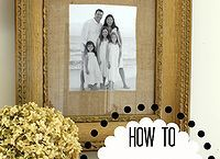 how to make a burlap mat for a picture, design d cor, diy home crafts, This is a step by step guide to making a burlap mat and framing a standard sized picture into an odd sized frame