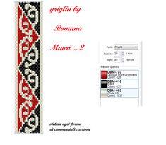 Peyote Beading, Beaded Bracelet Patterns, Seed Bead Patterns, Peyote Patterns, Beading Patterns, Cross Stitch Patterns, Maori Patterns, Bracelets, Pearls