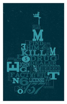 Memento - typographic movie poster - Adam Juresko