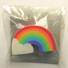 VTG 80s MYT Carson Rainbow and Cloud Diecut Novelty Eraser Japan