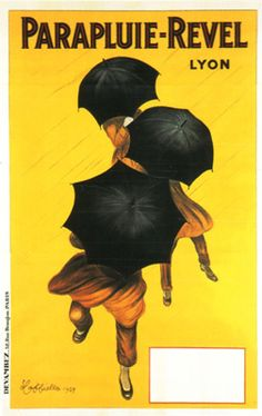 An old French umbrella company ad (1929). If only vintage posters weren't so pricey!