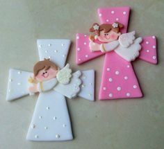 Cross AND ángel Arte Country, Polymer Clay Crafts, Communion, Ideas Para, Virginia, Origami, Favors, Cool Stuff, Angels