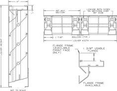 louver detail section Window Detail, Floor Plans, Windows, Image, Floor Plan Drawing, Ramen, House Floor Plans, Window