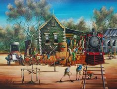 Gallery - Max Mannix Australian Artist Anzac Day, Train Tracks, Australian Artists, Paintings For Sale, Country Life, New Zealand, Around The Worlds, Gallery, Artwork