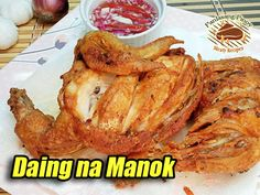 This chicken recipe is a counterpart of the popular daing na bangus. #DaingManok #FriedChicken Chicken Stuffed Peppers, Stuffed Whole Chicken, Old Recipes, Cooking Recipes, Asian Chicken Wings, Chicken Paella, Paella Recipe, Food Menu, Fried Chicken