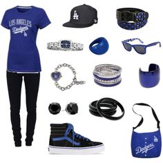 blinged out Dodgers gear ❤ Dodgers Outfit, Dodgers Gear, Dodgers Nation, Dodgers Baseball, Football Outfits, Sport Outfits, Lacoste Cap, Pretty Outfits, Cute Outfits