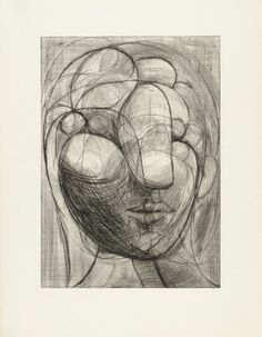 Pablo Picasso,  Head of Marie-Thérèse, 1933, Drypoint