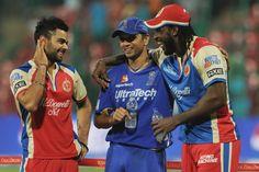 Top IPL Photos | Virat Kohli, Rahul Dravid and Chris Gayle during presentation ceremony between Rajasthan Royals and Royal Challengers Bangalore at M Chinnaswamy Stadium Bengaluru on April 20, 2013. #IPL6