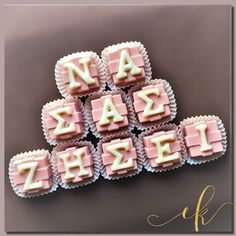Chocolate Bonbons to accompany a beautiful flower box for a new born baby girl! Flower Boxes, Cookie Jars, Beautiful Flowers, Sweets, Messages, Chocolate, Photo And Video, Desserts, Baby