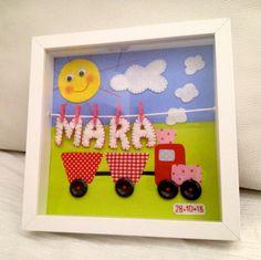 Cuadro con nombre de bebé: Mara, Niños y bebé, Babé