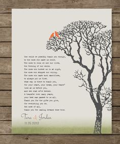 Wedding Gift for Parents from Bride and Groom by WordsWorkPrints, $19.00