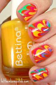 Let them have Polish!: Bettina Resort Collection Colorful Watermarble and my First You Tube Video!!