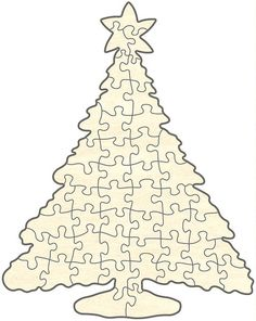 Christmas Tree Puzzle, 48 Pieces
