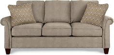 Bree Sofa by La-Z-Boy read reviews--comment about being short and how a short person can touch the floor!