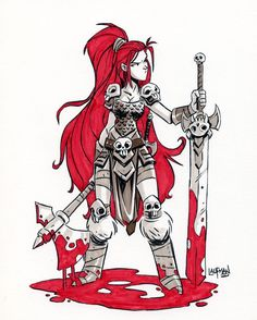 Rex Sonja ink and Marker from last year. Really liked how she turned out. #redsonja #conanthebarbarian #inkandmarker #sketch #dereklaufman #throwback