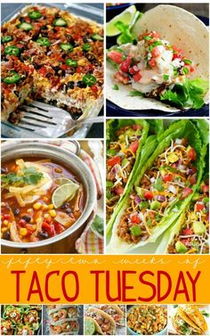 52 Weeks of Taco Tuesday Recipes - One Year of Taco recipes on Frugal Coupon Living.