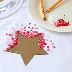 Painted Shirt . . .cute idea for the kiddos.