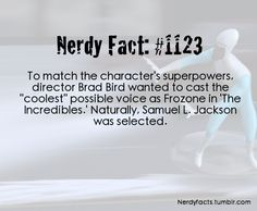 Wanted to cast the coolest possible voice as Frozone in The Incredibles. Jackson / The Incredibles - Disney Disney And Dreamworks, Disney Pixar, Walt Disney, Punk Disney, Disney Fun Facts, Disney Memes, Disney Love, Disney Magic, Hacks