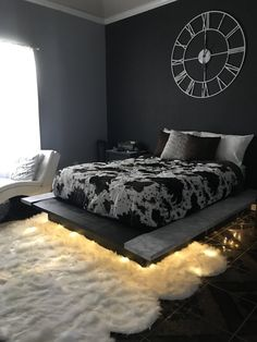 Floating Bed FrameThe Floating Bed Frame Pin By Amyia Morrison On House In 2019 Bedroom Decor Floating Bed 6 Amazing Dark Home Design Luminous Color apartment decor and 7 tips on cheap decoration concepts with luxurious style Dream Rooms, Dream Bedroom, Bedroom 2018, Floating Bed Frame, Floating Shelves, Halloween Bedroom, Design Room, Interior Design, Home Design