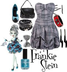 """""""Frankie Stein// Monster High//Halloween Dance"""" by rowendell on Polyvore"""