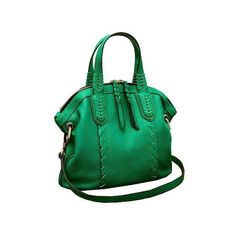 orYANY Cassie Pebbled Leather Mini Convertible Satchel ($198) ❤ liked on Polyvore featuring bags, handbags, oryany satchel, green purse, miniature purse, green satchel e mini satchel