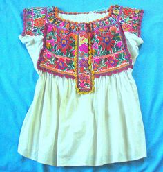 Chatino blouse from Yaitepec    Blouse decorated with fine cross-stitch embroidery from Chatino community of Santiago Yaitepec, Oaxaca.