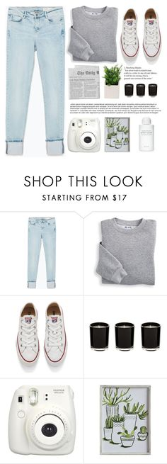 """""""If you wanna talk, let's talk about the way you left me"""" by itaylorswift13 ❤ liked on Polyvore featuring Zara, Blair, Converse, Fujifilm, 3R Studios and Byredo"""