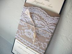 lace with champagne instead of kraft paper? mmmhhmm! @Merissa Nicole