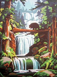 vintage paint by number paintings - Google Search