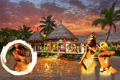Escape and discover the Polynesian culture at Te Vara Nui Village, Cook Islands. #tevaranuivillage #cookislands #polynesianculture #show #dance