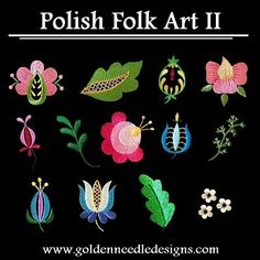 polish embroidery patterns | Free Embroidery Designs, Cute Embroidery Designs