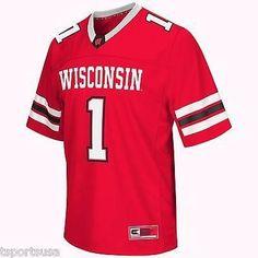 "Wisconsin Badgers Football Jersey NCAA ""Spike It"" Football Jersey"