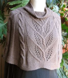 "capelet_4 by sundayknits, via Flickr Milkweed Capelet by Caeol Sunday via Ravelry. Knitting pattern in sizes 28-50"", worked in Worsted #4 yarn. Pattern costs $7.00"