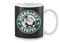 Starbörks Kerfee coffee mug with Muppets Swedish Chef, OMG awesome! LIMITED EDITION - SELLING OUT FAST | TeeChip
