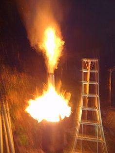 ロケットストーブもどきをドラム缶で作ったら・・・失敗|趣味工作の便利屋:あなたの困っているものづくり・試作を応援します