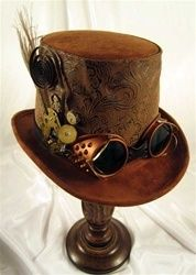 Steampunk Goggles and Hat