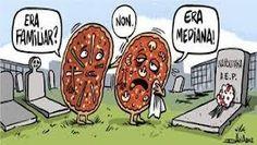 Pobre pizza mediana