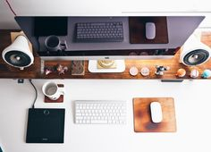 Home office apple desk by on