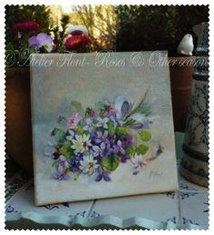 Un bouquet de violettes   © Atelier Flont- Roses & Other seasons  http://laboutique-atelier-flont.blogspot.fr/