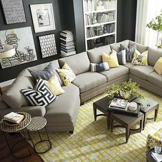 HGTV Home® CU.2 Left Cuddler Sectional by Bassett Furniture. Customize your sectional with over 1,000 fabric options! #DIY Decorating Ideas Home Decor