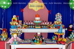 Circo Festa Carnaval via idéias do partido de Kara | KarasPartyIdeas.com # circo # carnaval # birthday # partido # idéias (8)