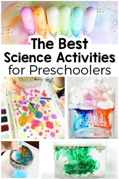 These science activities for preschoolers are sure to be a hit! Kids LOVE to be hands on. From science experiments to sensory explorations to STEAM activities, plan your summer with these fun science activities in mind! Science Experiments For Preschoolers, Preschool Science Activities, Steam Activities, Science Activities For Kids, Easy Science, Preschool Lessons, Science Lessons, Preschool Activities, Science Activities For Preschoolers