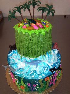 Creative Cake, Beach theme, Hawiian Theme, Under The Sea, Theme, Alexis Snell Original