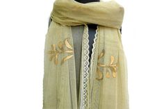 Fashion scarf/ net scarf/ lace scarf/ golden scarf/ gift scarf / gift ideas.